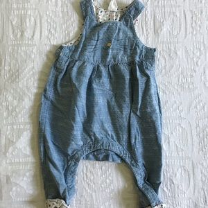 H&M Denim Cat Baby Romper